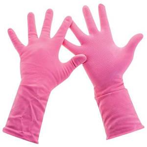 """Рукавички латекс господарський рожеві """"VitLux"""" М"""