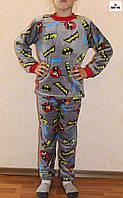 Пижама детская махровая тепла для мальчика Бетмен супергерои р. 30-38