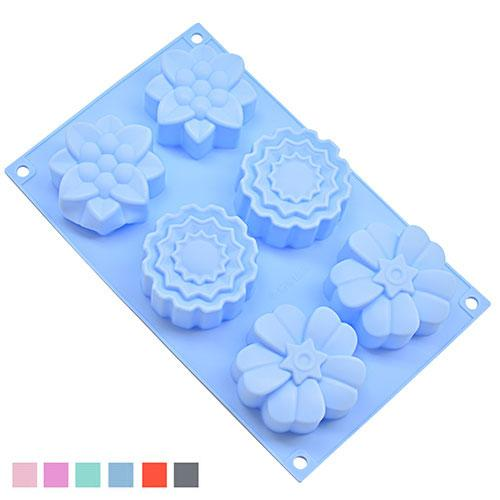Форма для выпечки силиконовая Садовые цветы 6шт/л 27.5*17*3.8см