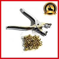 Инструмент для установки люверсов DK-008, Заклепочник Щипцы для кожи ткани, Установщик люверсов, Прессы ручные