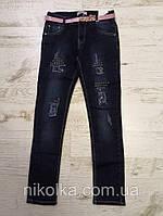 Джинсовые брюки для девочек оптом, Seagull, 134-164 рр., Арт. CSQ-89875, фото 2