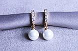 Преміум сережки фірми Xuping з перлами (color 54), фото 3