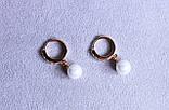 Преміум сережки фірми Xuping з перлами (color 54), фото 4