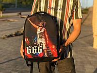 Рюкзак городской качественный модный стильный Антивор с принтом Алишер черный, фото 1
