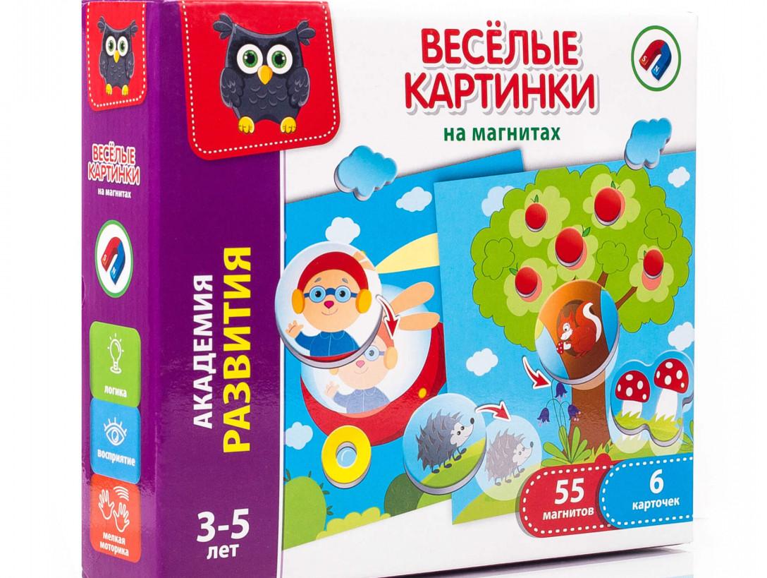 Игра магнитная мозаика Веселые картинки (рус), Vladi Toys (VT5422-02)