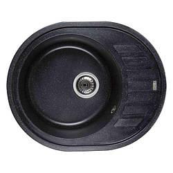 Мийка кам'яна Ventolux MONICA (SPACE BLACK) Чорна 620x500x200