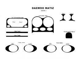 Наклейки на панель Daewoo Matiz с 98 года