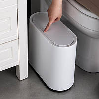 Маленькое белое мусорное ведро 10 л в офис, кухню, туалет, ванную