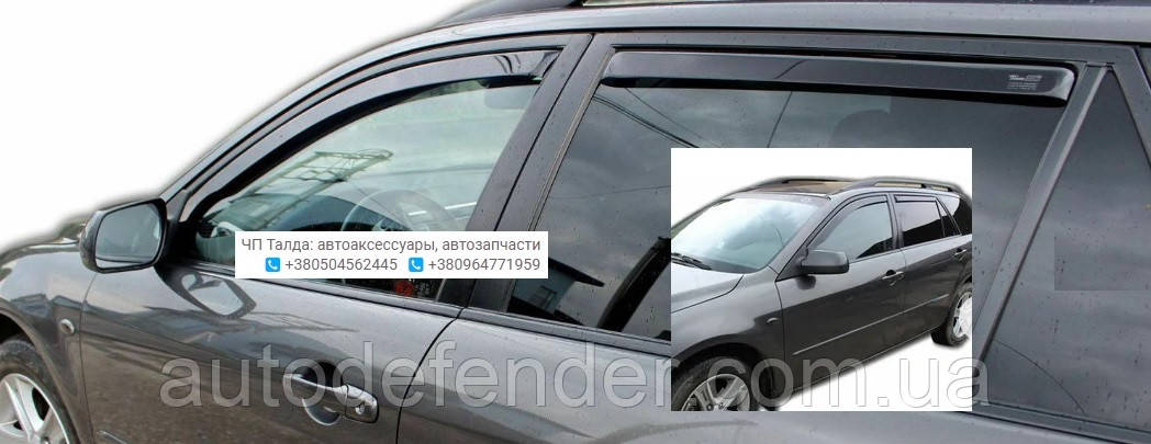Дефлекторы окон (вставные!) ветровики Mazda 6 2002-2007 5D 4шт. Combi, HEKO, 23134