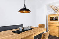 Подвесной металлический ретро светильник Heitronic PRAG Ø46см