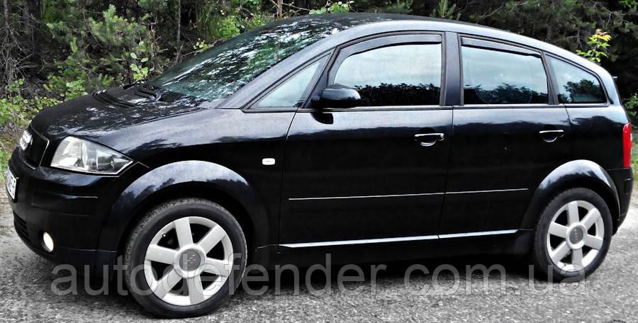 Дефлекторы окон (вставные!) ветровики Audi A2 (8Z0) 2000- 4шт., HEKO, 10211