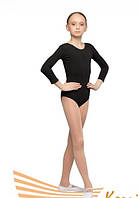 Детский купальник для гимнастики и танцев Хлопок Черный