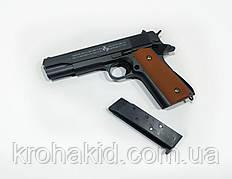 Игрушечный пистолет / Пистолет Кольт 1911 Colt Страйкбольный 1 в 1 с настоящим