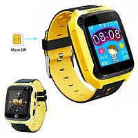 Детские умные часы с Gps трекером Smart Q528 с камерой Желтый, фото 1