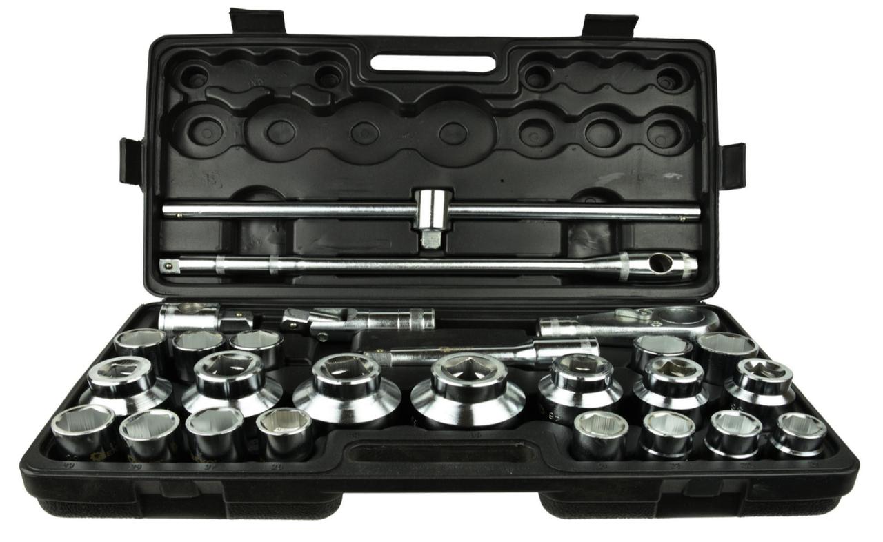 """Набір головок 26 одиниць GEKO G10115 (21-65 мм) 6-гр. 3/4"""""""