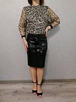 Платье женское черное с золотой отделкой Exclusive Размер 42, 44