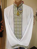Чоловіча вишиванка на довгий рукав вишита хрестиком (ручна робота)