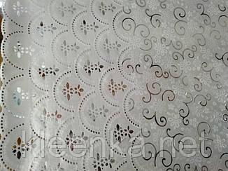Клеенчатая скатерть на кухонный стол  Ажур, фото 2