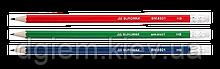 Карандаш графитовый COLOR НВ с ластиком ассорти Buromax