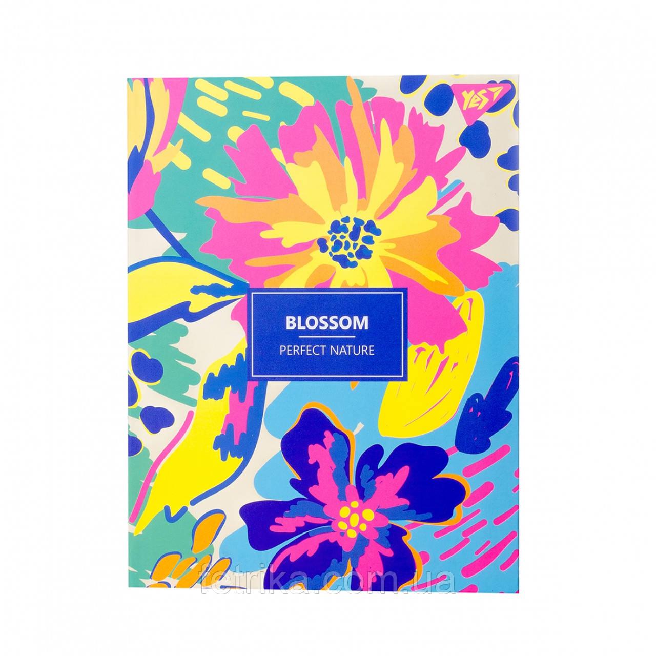 """Блокнот А5 YES """"BLOSSOM"""", 140*185 мм, 64 л."""