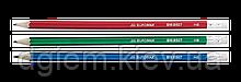Карандаш графитовый METALLIC HB с ластиком Buromax