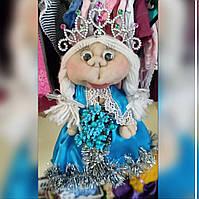Текстильная чулочная кукла ручной работы Снегурочка - Эльза