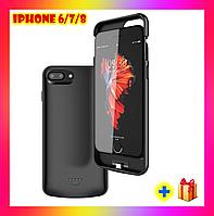 Портативная батарея DT-13 для iPhone 6/7/8/ se 2020 . Чехол зарядка аккумулятор для айфона 4000 мАч + ПОДАРОК