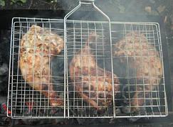 Решітка для гриля і барбекю Sunnecko з нержавійки.Сітка для гриля на мангал 300х400 мм
