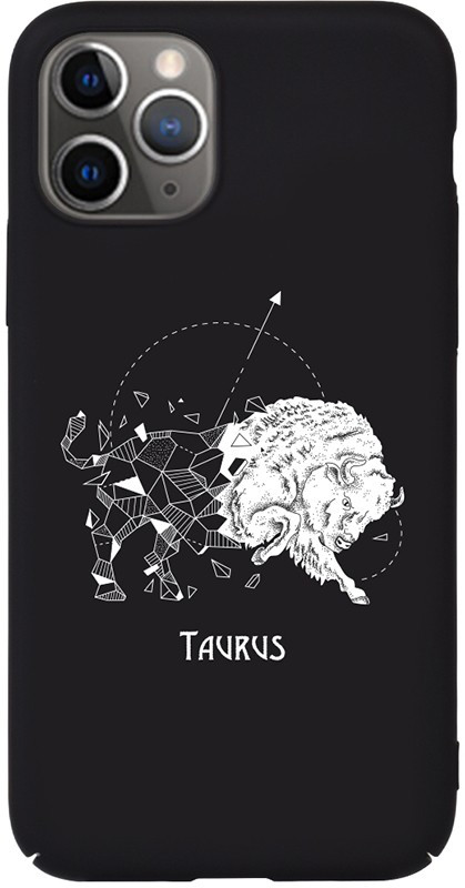 Чехол-накладка TOTO Full PC Print Case Apple iPhone 11 Pro Max #172_Taurus Black #I/S