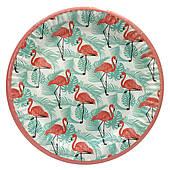 """Тарілки паперові одноразові """"Фламінго"""" flamingo 10 шт/уп"""