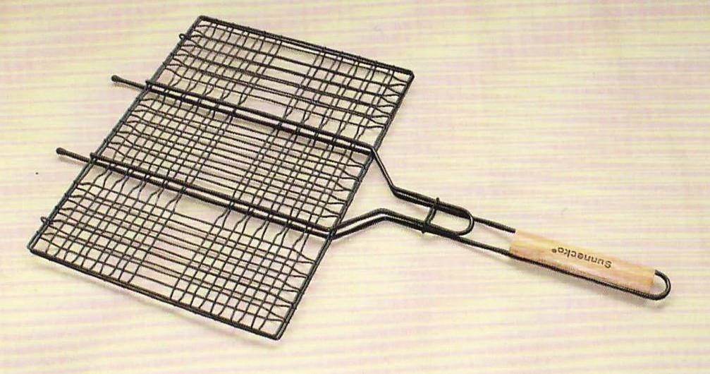 Решетка для гриля и барбекю Sunnecko из нержавейки.Сетка для гриля на мангал 230х240 мм