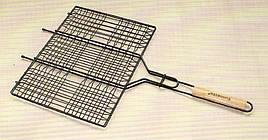 Решітка для гриля і барбекю Sunnecko з нержавійки.Сітка для гриля на мангал 230х240 мм