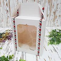Коробка подарочная «Орнамент» с окном 180х210х90 мм., фото 1