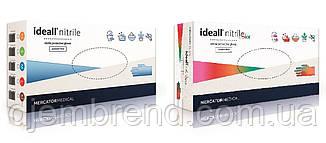 Перчатки Нитриловые Mercator Medical Ideall nitrile, размер XL, 100 шт. синие