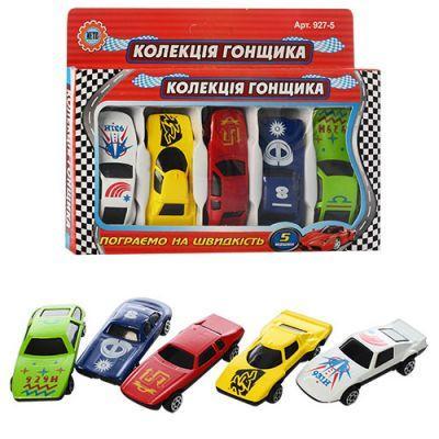 Набор машинок, железная MB 5 №1 927-5 железная Коллекция гонщика, 5 машинок 17-13-2 см