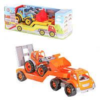 """Игрушка""""Автовоз с трактором"""", машинка,детские машинки,машинки для мальчиков,машина игрушечная пластиковая"""