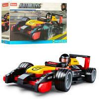 Конструктор SLUBAN M38-B0677 гоночная машина, фигурка, 120 дет, в кор-ке 24-14-4,5 см