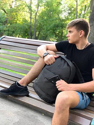 Рюкзак городской Мужской | Женский | Детский, для ноутбука Nike (Найк) темно - серый спортивный, фото 2