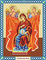 Образ пресвятой Девы Марии . Схема вышивки бисером