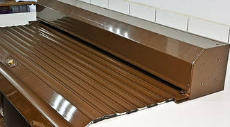 Захисні коричневі ролети з електроприводом Ш:1700мм хВ:2300 ДОСТАВКА ПО УКРАЇНІ БЕЗКОШТОВНО!