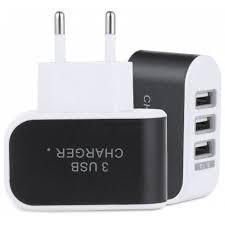 Мережева USB-зарядка на 3 порти струм 1 ампер