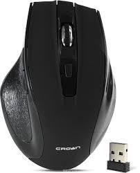 Беспроводная мышь черного цвета