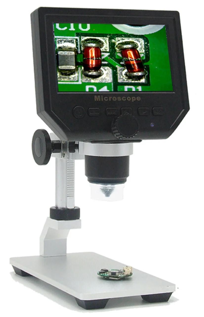 Электронный микроскоп 1-600х ЖК дисплей 1080P