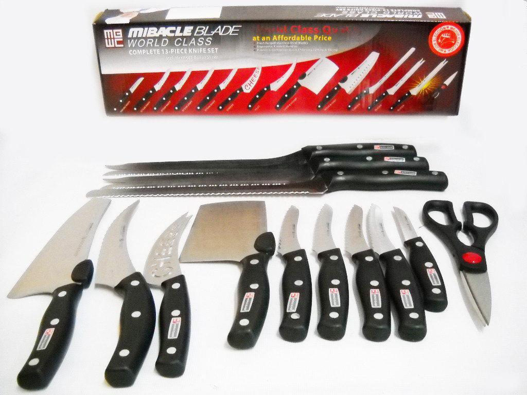 🔥✅ Набор ножей Mibacle Blade 13in1 Мирэкл Блэйд Набор кухонных ножей Mibacle Blade 13 в 1 РОЗНИЦА