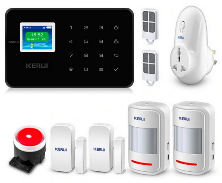 Комплект сигнализации Kerui alarm G18 plus с умной радиорозеткой черная