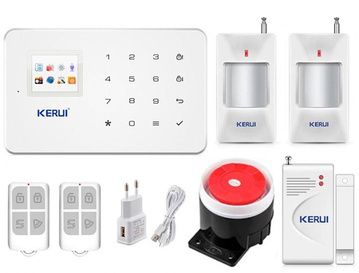 Безпровідна GSM сигналізація для будинку, дачі, гаража комплект Kerui alarm G18 (Economy House 2) 433мГц