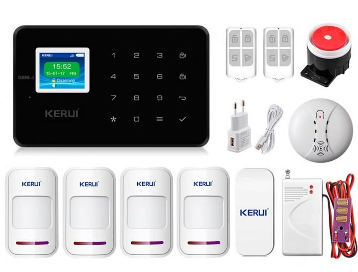 Комплект сигнализации Kerui G18 Pro для 3-комнатной квартиры black! Гарантия 24 месяца!