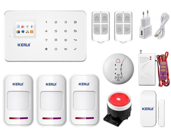 Комплект сигналізації Kerui G18 Pro для 2-кімнатної квартири! Гарантія 24 місяці!