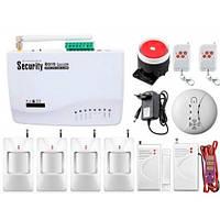 Беспроводная GSM сигнализация для дома, дачи, гаража комплект Kerui alarm G01 (Profi 4) 433мГц! Гарантия 24мес