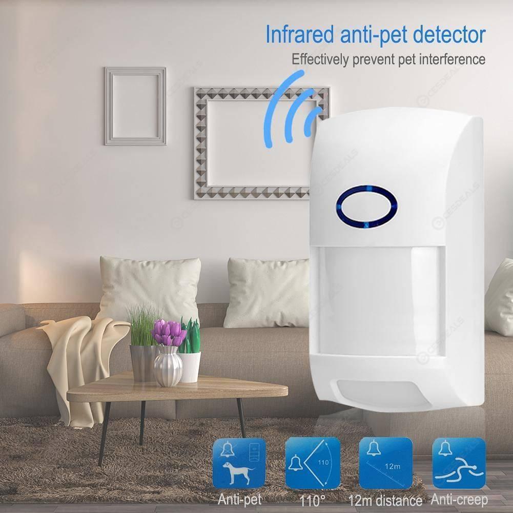 Инфракрасный детектор датчик движения  для  GSM сигнализации  с защитой от животных до 25 КГ PIR 433 Гц